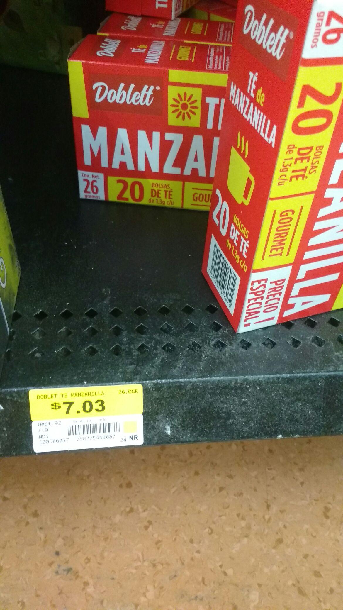 Walmart: Té de manzanilla