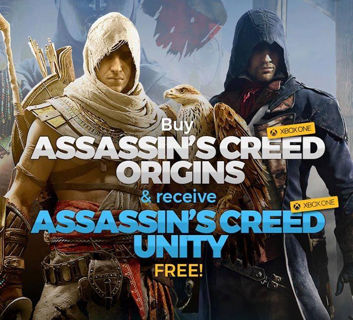 CDKeys: Assassins Creed Origins + Assassins Creed Unity para Xbox One