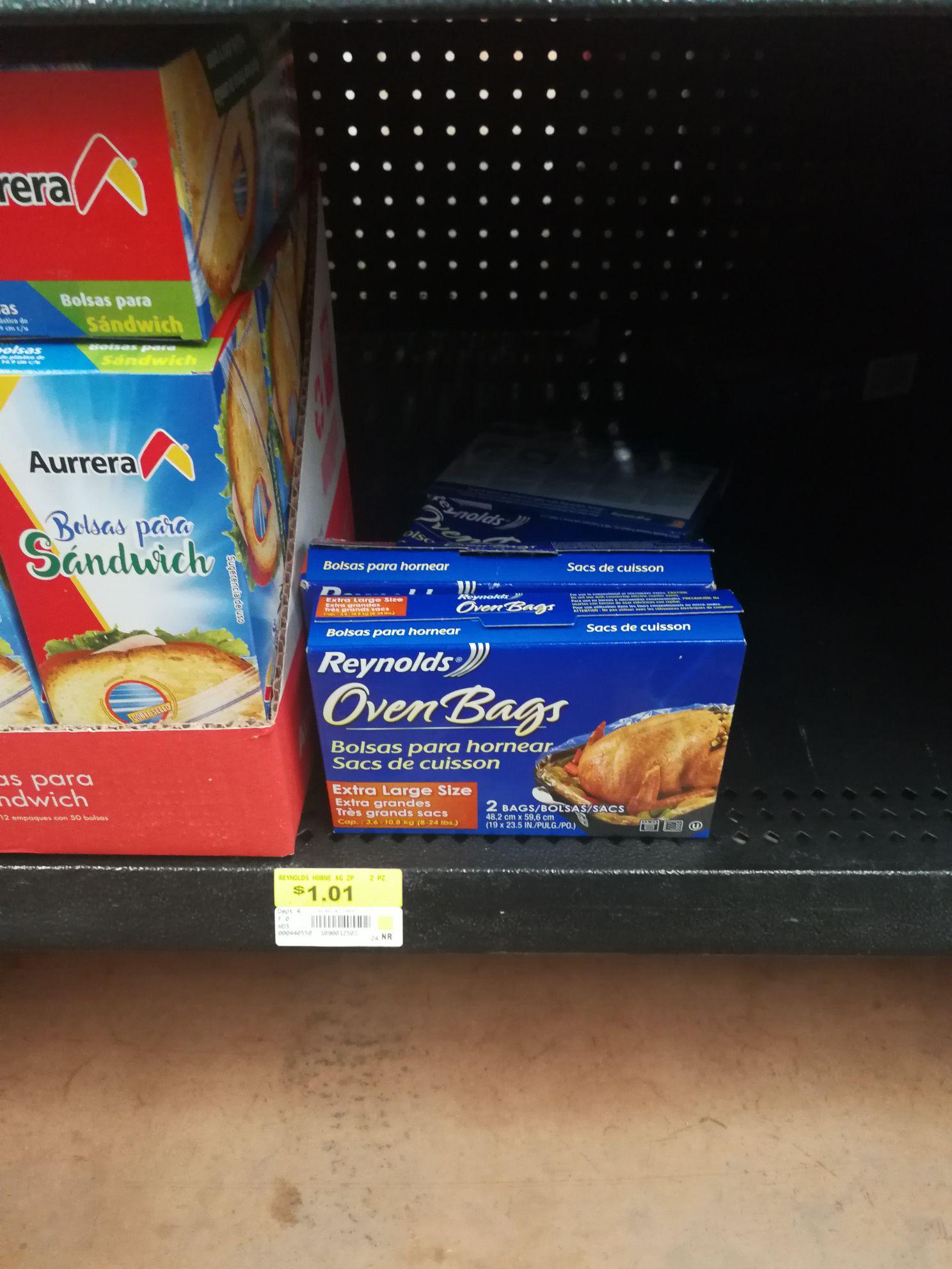 Walmart: Bolsas grandes,para hornear