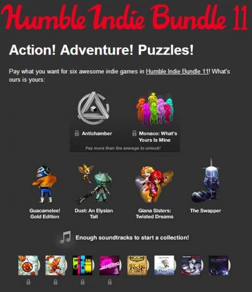 Humble Indie Bundle 11: paga lo que quieras por 4 juegos incluyendo Guacamelee!