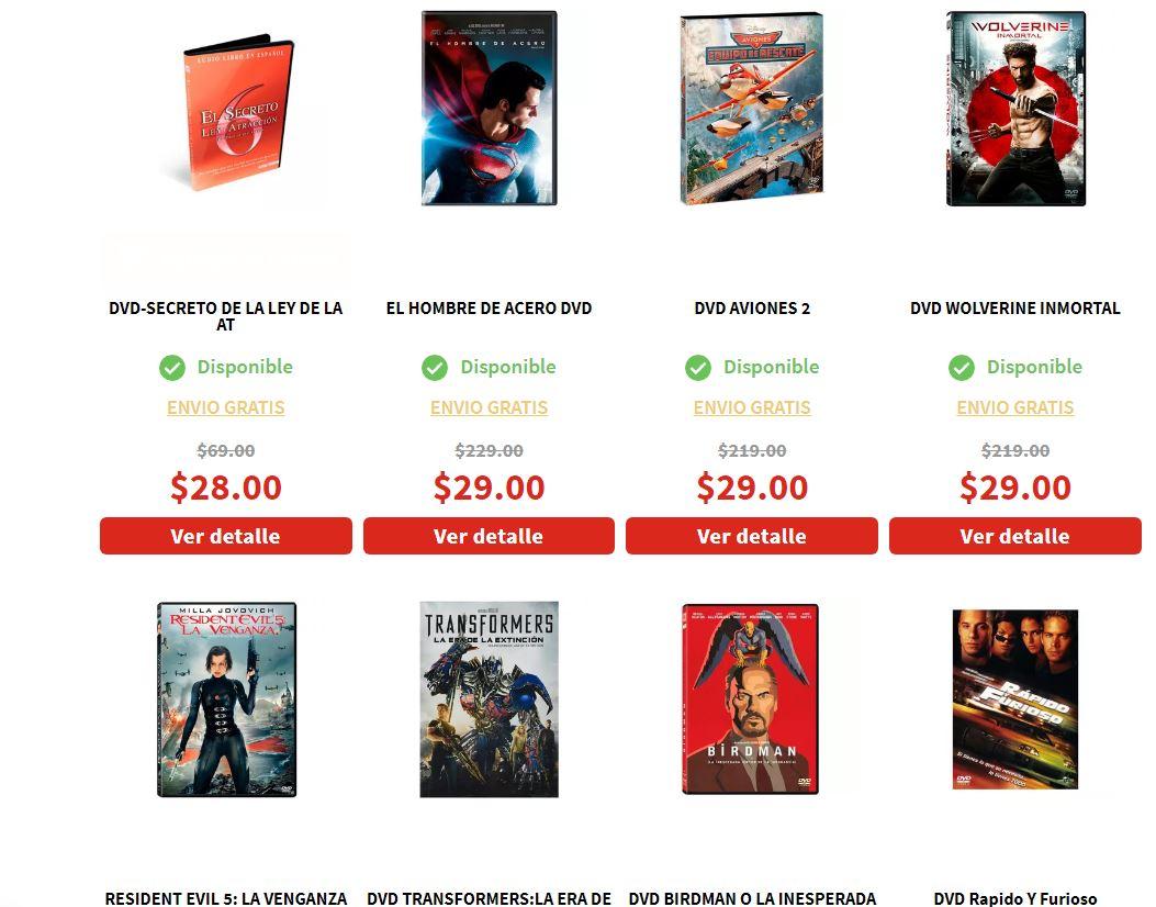 Elektra: Películas DVD + Envío Gratis