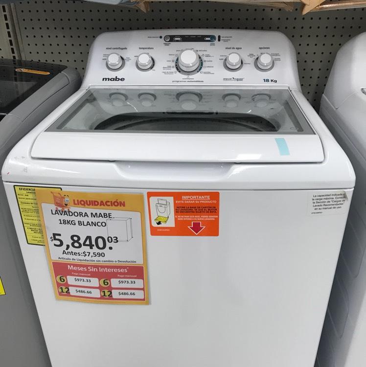 Walmart: Lavadora Mabe 18kg a $5,840.03