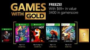 Xbox: Games With Gold De Marzo