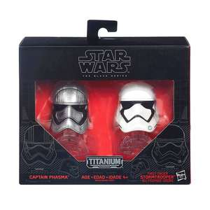 Amazon: Captain Phasma y Stormtrooper Star Wars Black Series Titanium