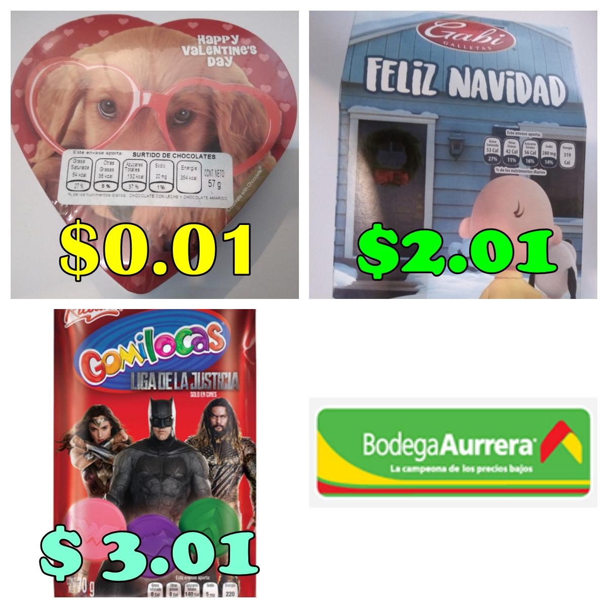 Bodega Aurrerá: Caja de Chocolates $0.01 y más