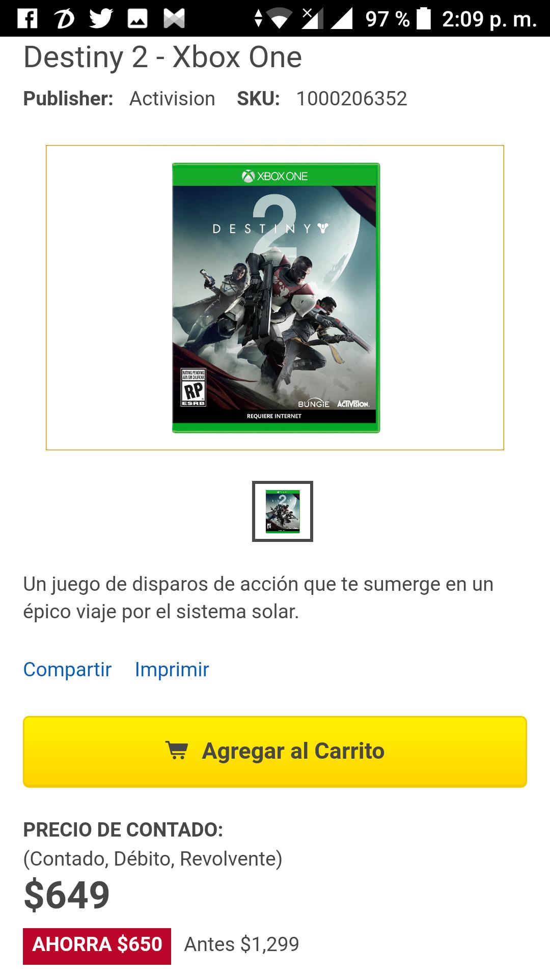 Best Buy: Destiny 2 Xbox one
