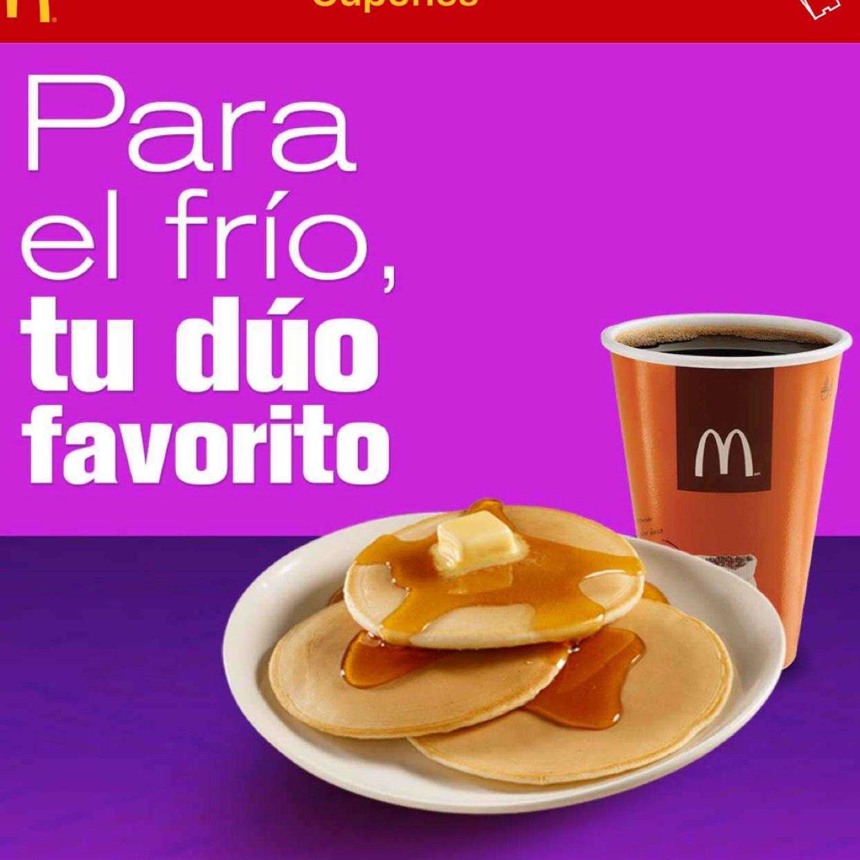 McDonald's App: Orden de Hotcakes + Café por $20