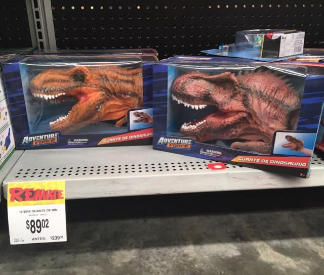 Bodega Aurrerá La Fuente: Guante de dinosaurio en $89.02
