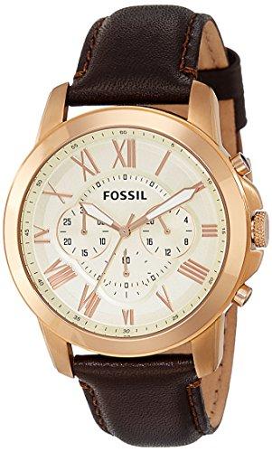 Amazon: Fossil FS4991 Reloj Grant, Análogo, Redondo para Hombre