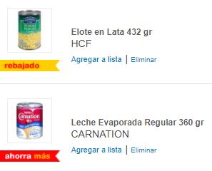 HEB: Compras 2 Latas de Elote HCF 432 gr y Gratis Leche Evaporada CARNATION Regular 360 gr