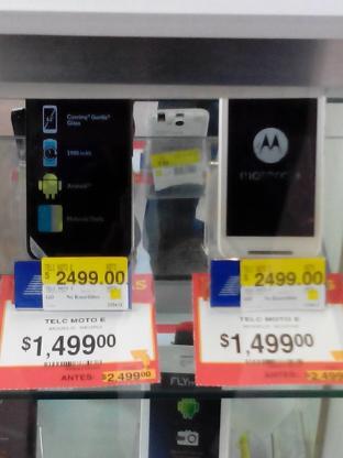 Walmart: Moto E Telcel $1499