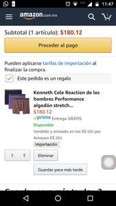Amazon: Calzones Kenneth cole talla CH