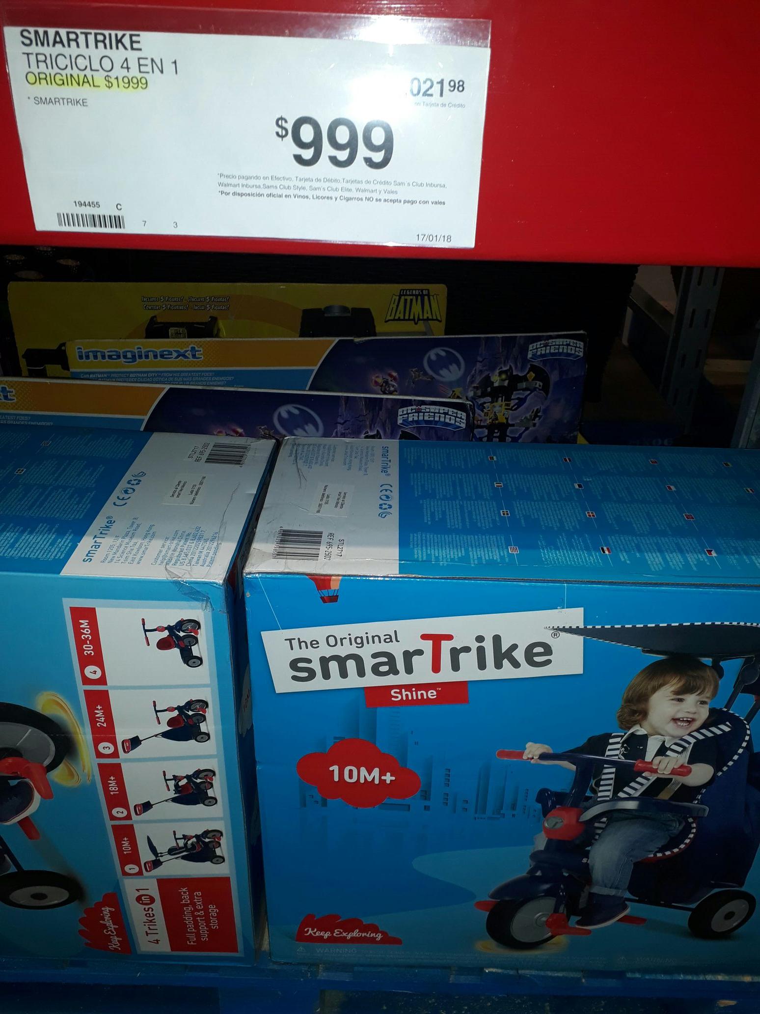 Sam's Club: Triciclo Smartrike a $999