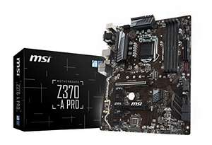 Amazon: MSI ATX Motherboard Motherboards Z370-A PRO