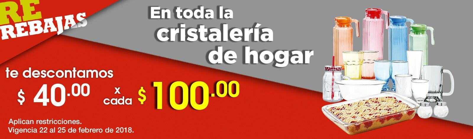 Comercial Mexicana y MEGA: $40 de descuento por cada $100 en toda la cristalería de hogar