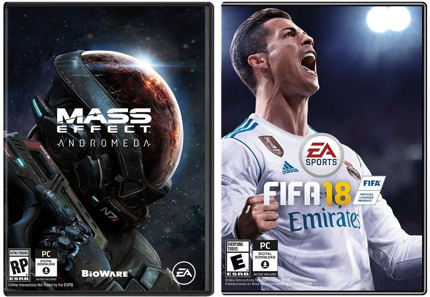 Amazon USA: Mass Effect Andromeda ($188), Fifa 18 ($375) para PC