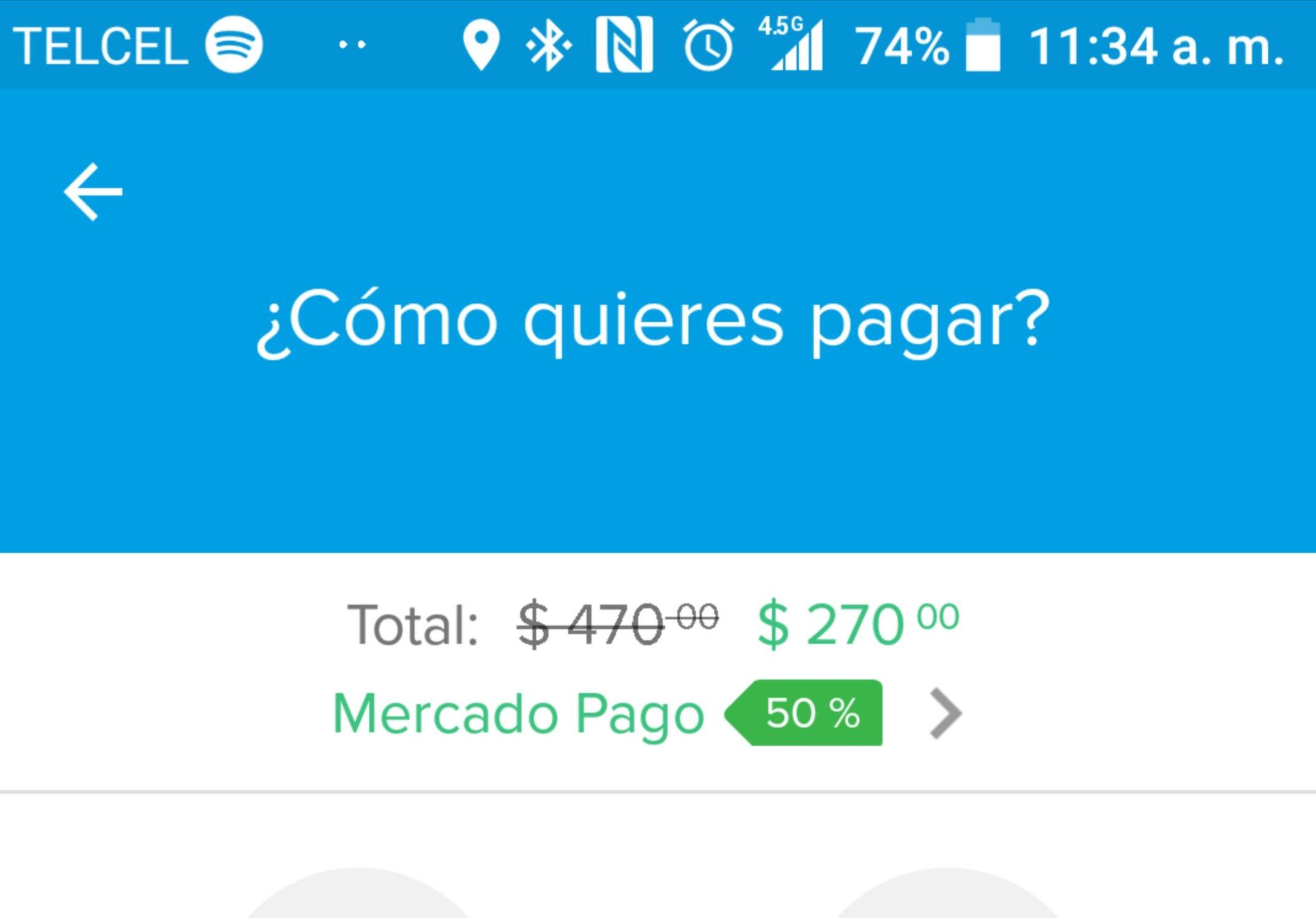 Mercado Pago App: descuento del 50% pagando servicios de nuevo