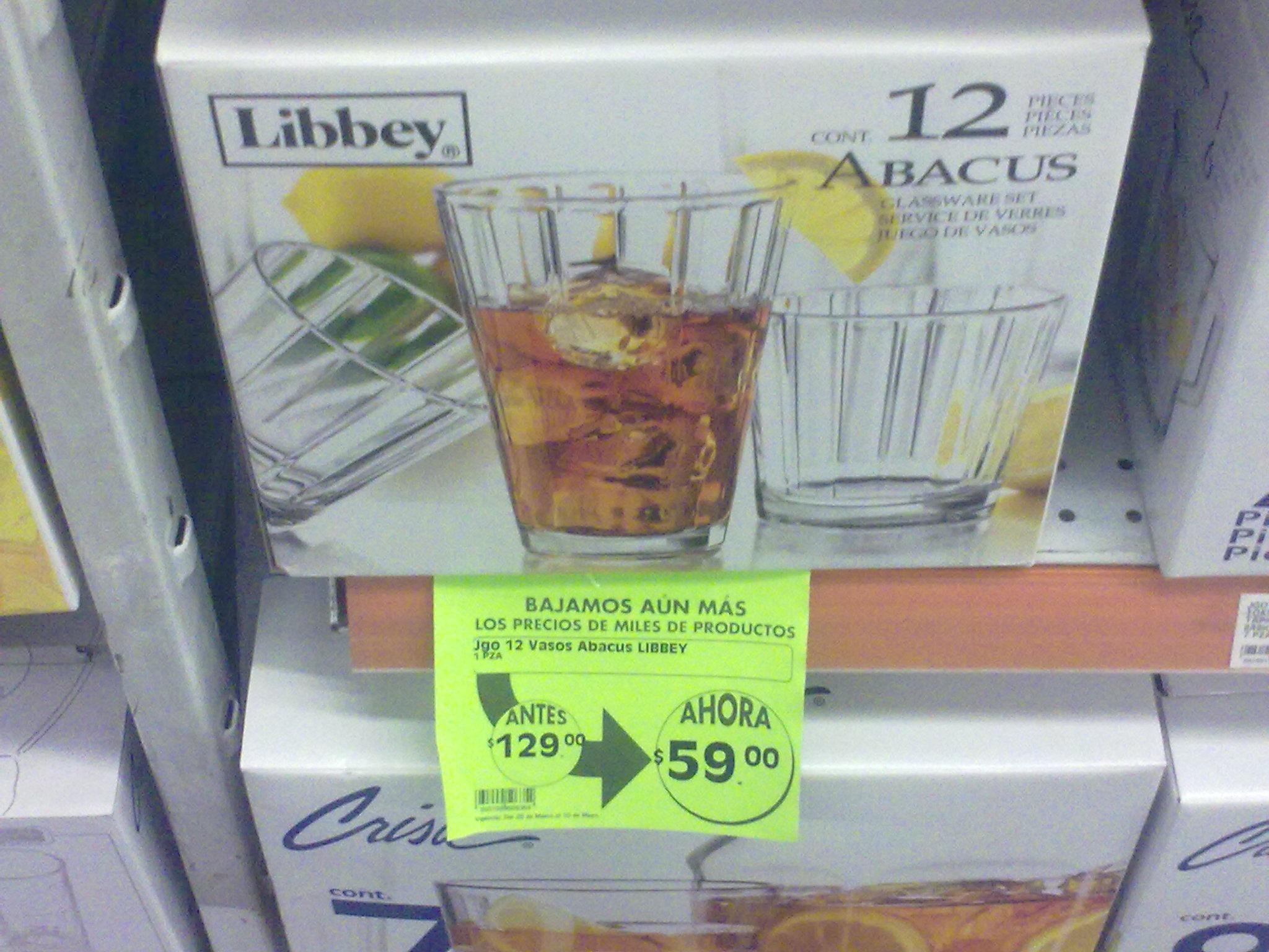 La Comer: Paquete de vasos de 12 de $129 a $59
