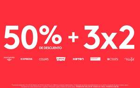 Promoda Outlet: 50% de descuento + 3X2 en prendas y mercancía seleccionada.