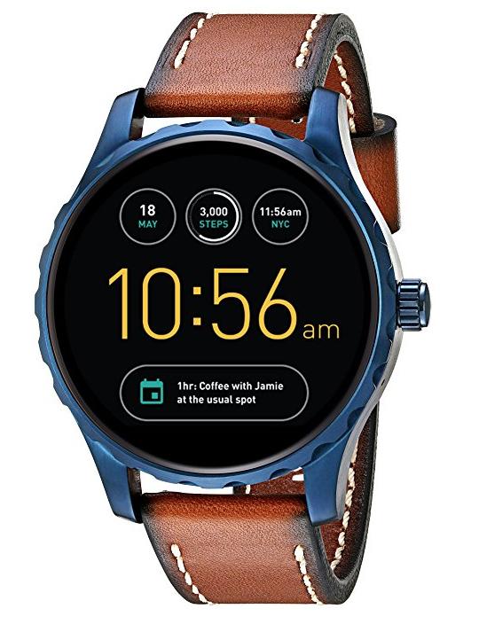 Amazon: Smartwatch Fossil Q Mariscal Correa de piel
