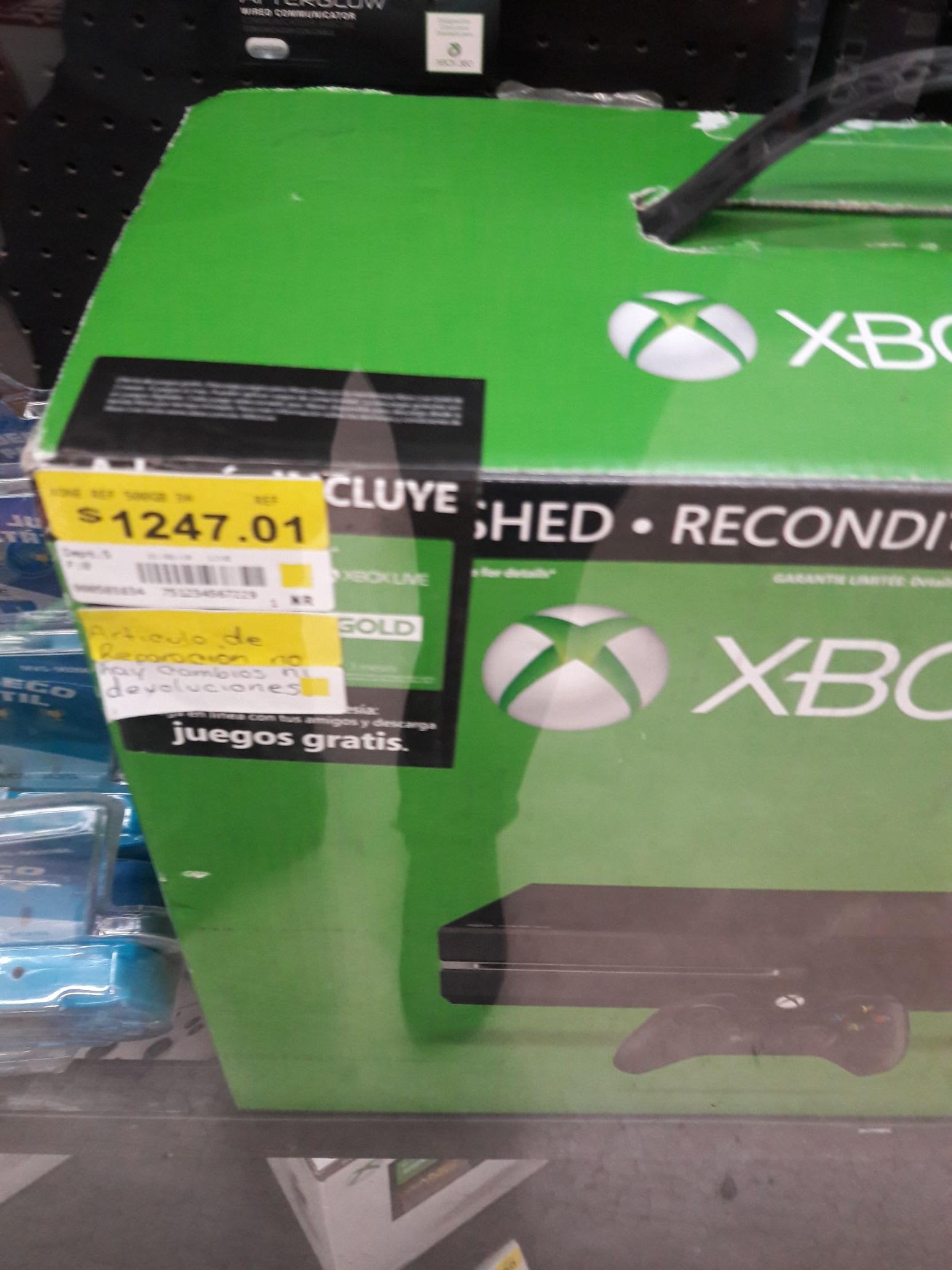 Bodega Aurrerá: Consola Xbox One REFUBISHED a $1,247.01
