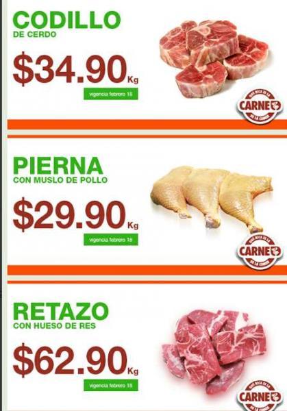 Martes de carnes en La Comer febrero 18
