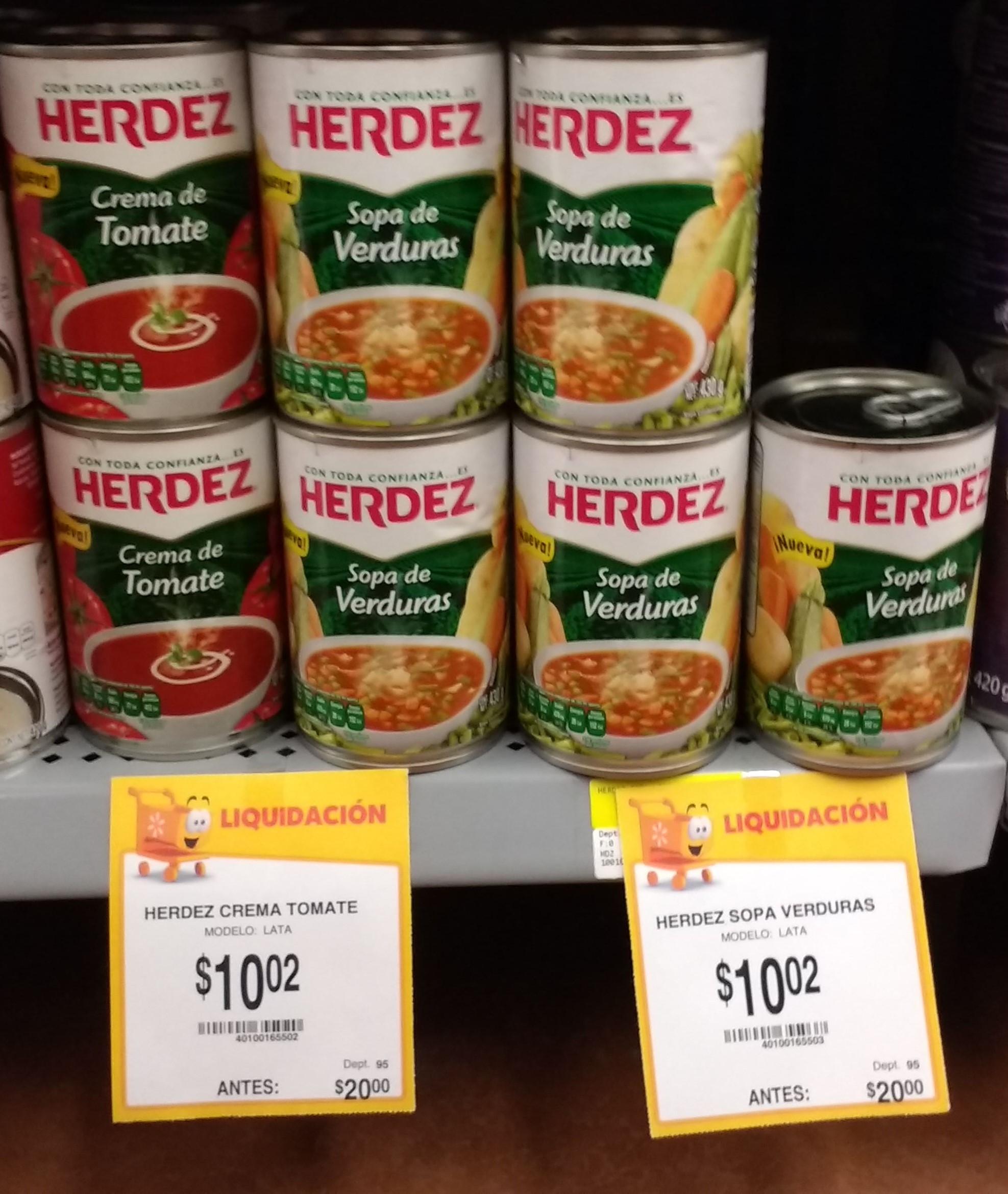 "Walmart: Enlatados ""Herdez"" $10.02"