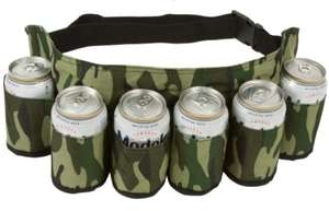 Amazon: EZ Drinker Beer & Soda Can Holster Belt, Holds 6 Beverages