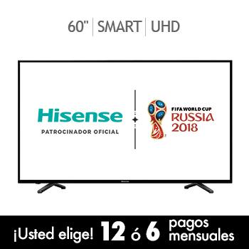 """Costco: Hisense 60"""" Ultra HD 60DU6070 con cupón de paypal"""