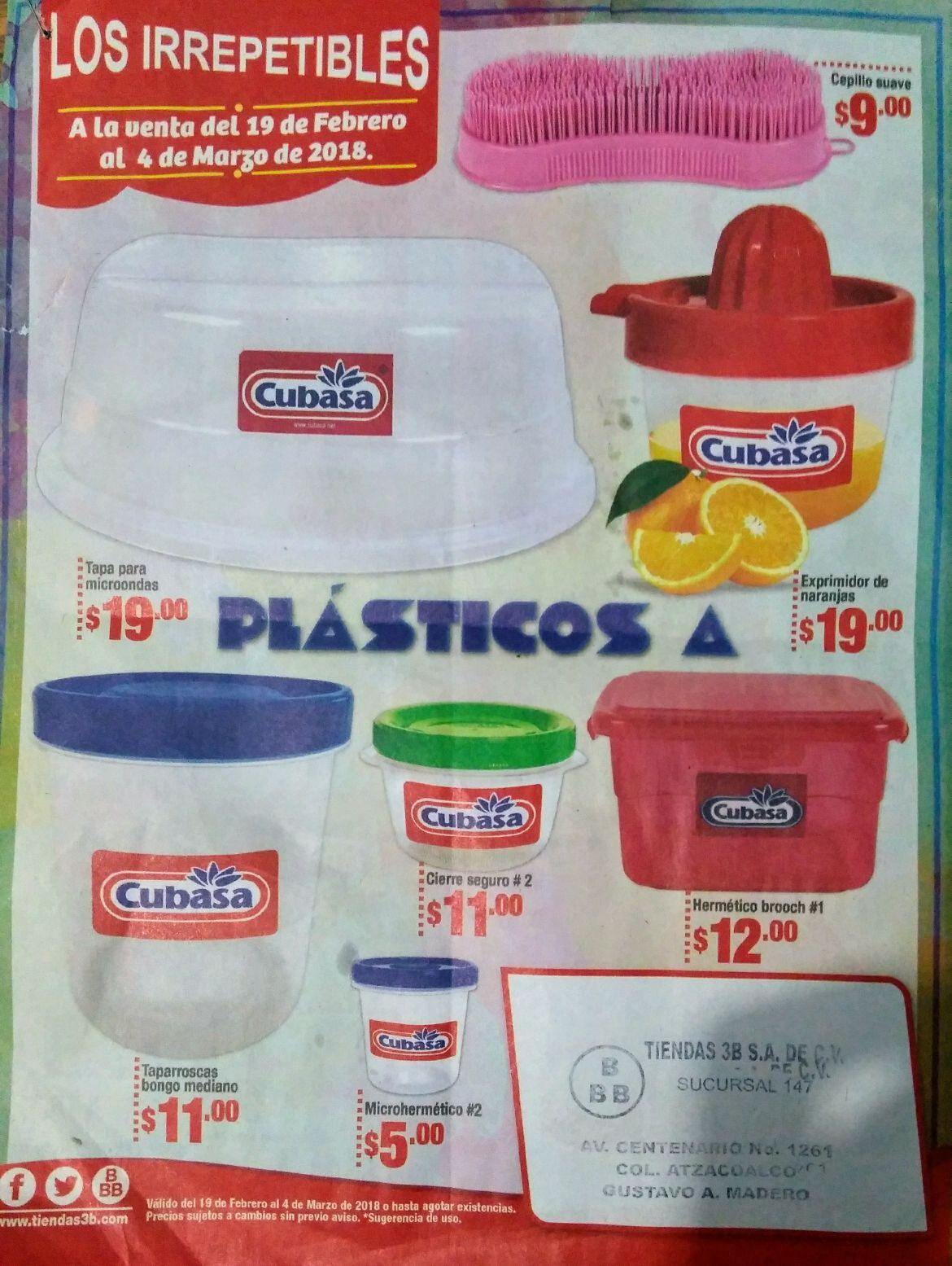 Tiendas 3B: Plásticos herméticos Cubasa tipo Tupperware