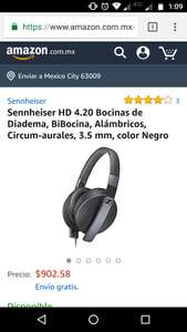Amazon: Headphones Sennheiser HD 4.20