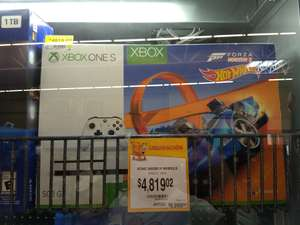Walmart: Xbox One S 500GB Hot Wheels a $4,819.02