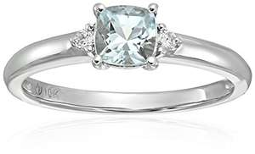 Amazon: 10 K oro rosa Morganite Y Diamante Acentuados Classic Solitaire anillo de compromiso