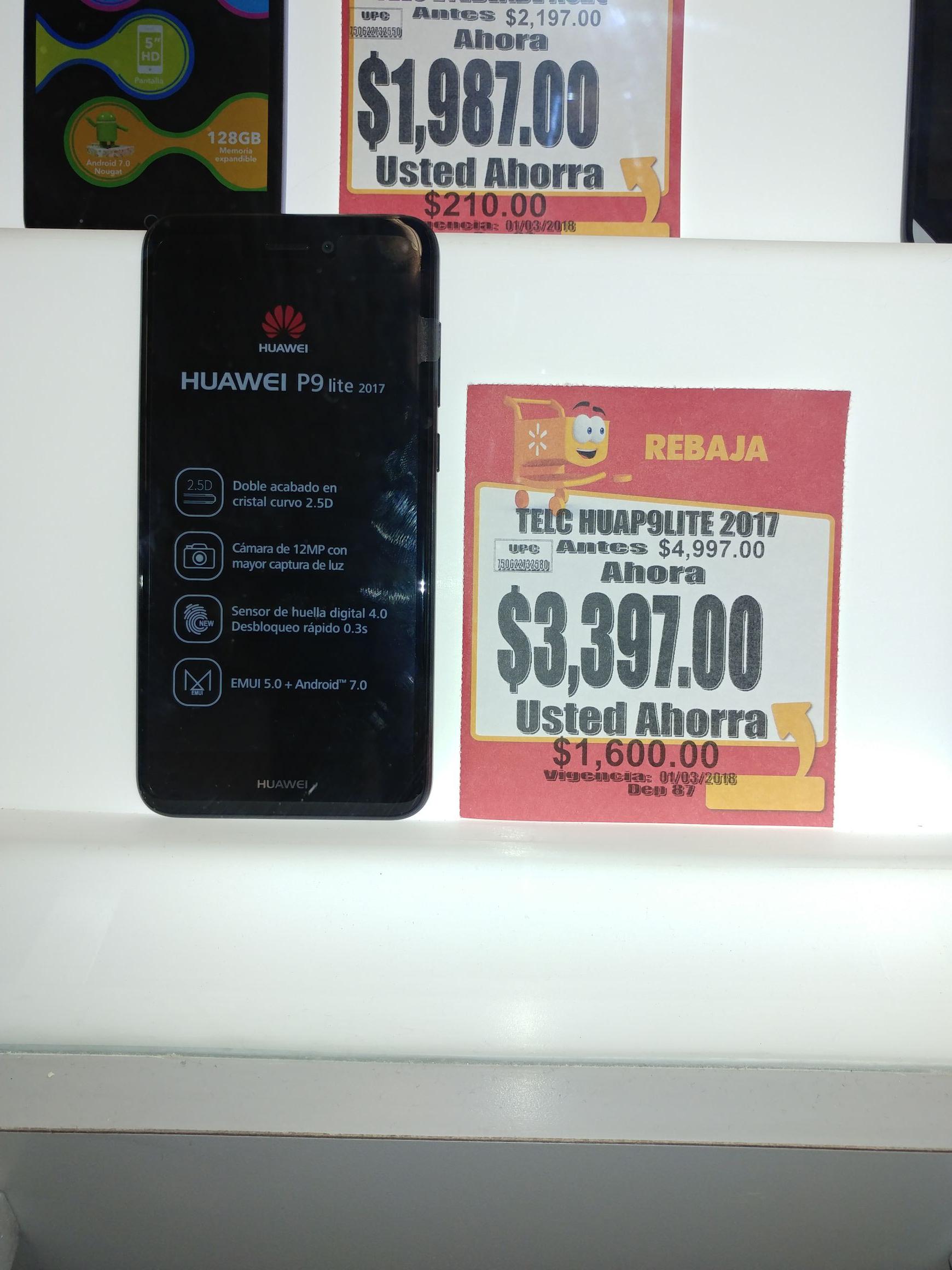 Walmart: Huawei P9 Lite 2017 Telcel.