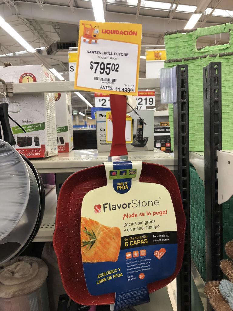 Walmart: Sartén grill Flavor Stone a $795.02