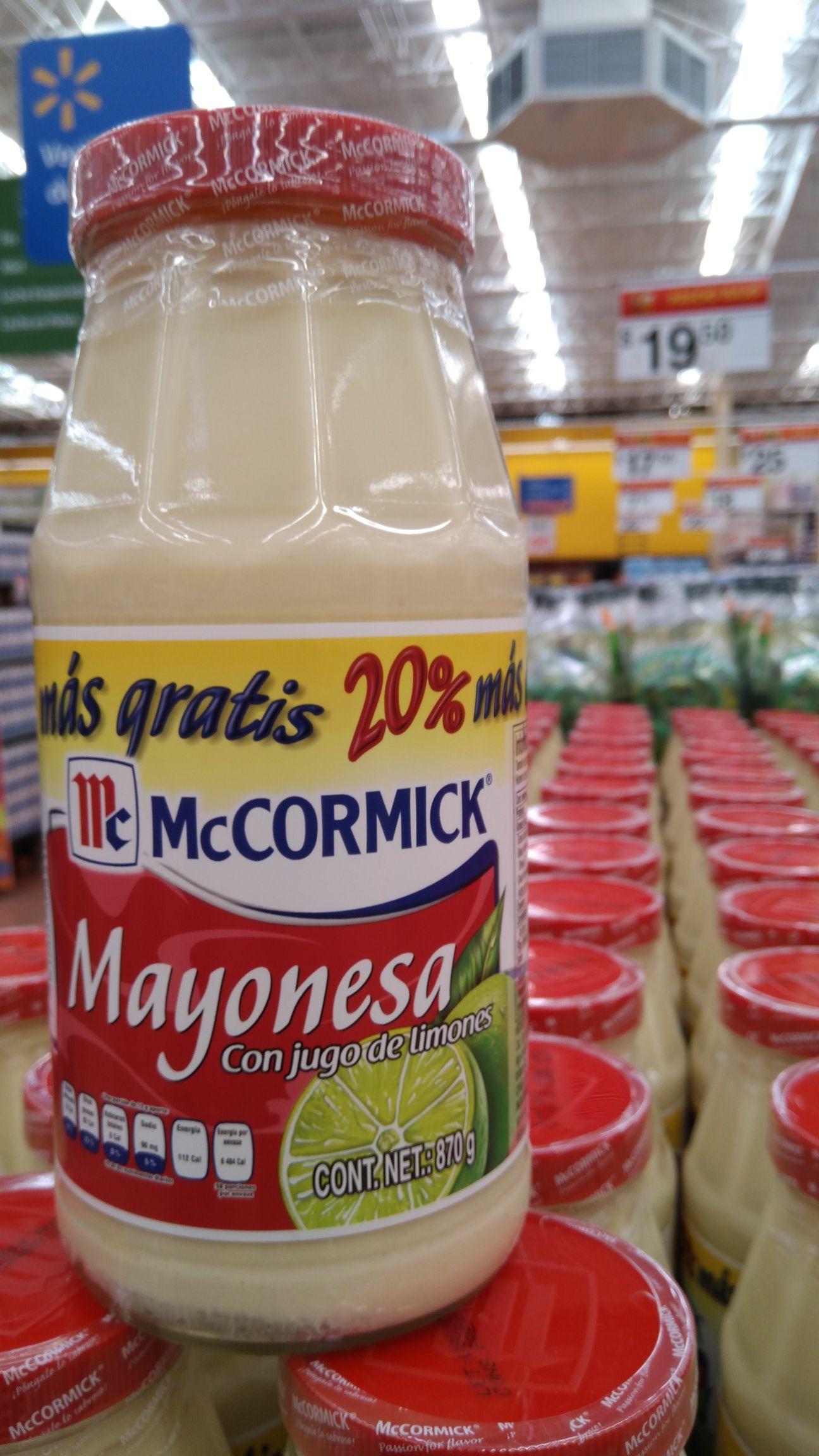 Mayonesa Mccormick Wal-Mart Xalapa Lázaro Cárdenas