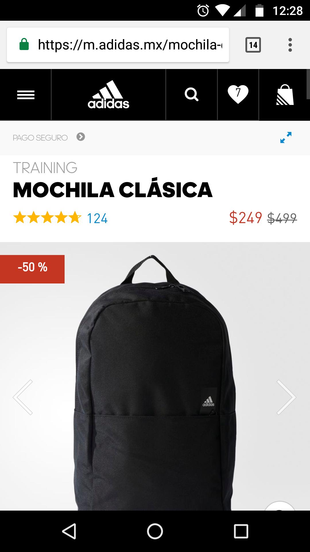Adidas: Mochila Clásica negra