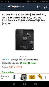 Amazon: Huawei Mate 10 - 64 GB (Vendido por un tercero)