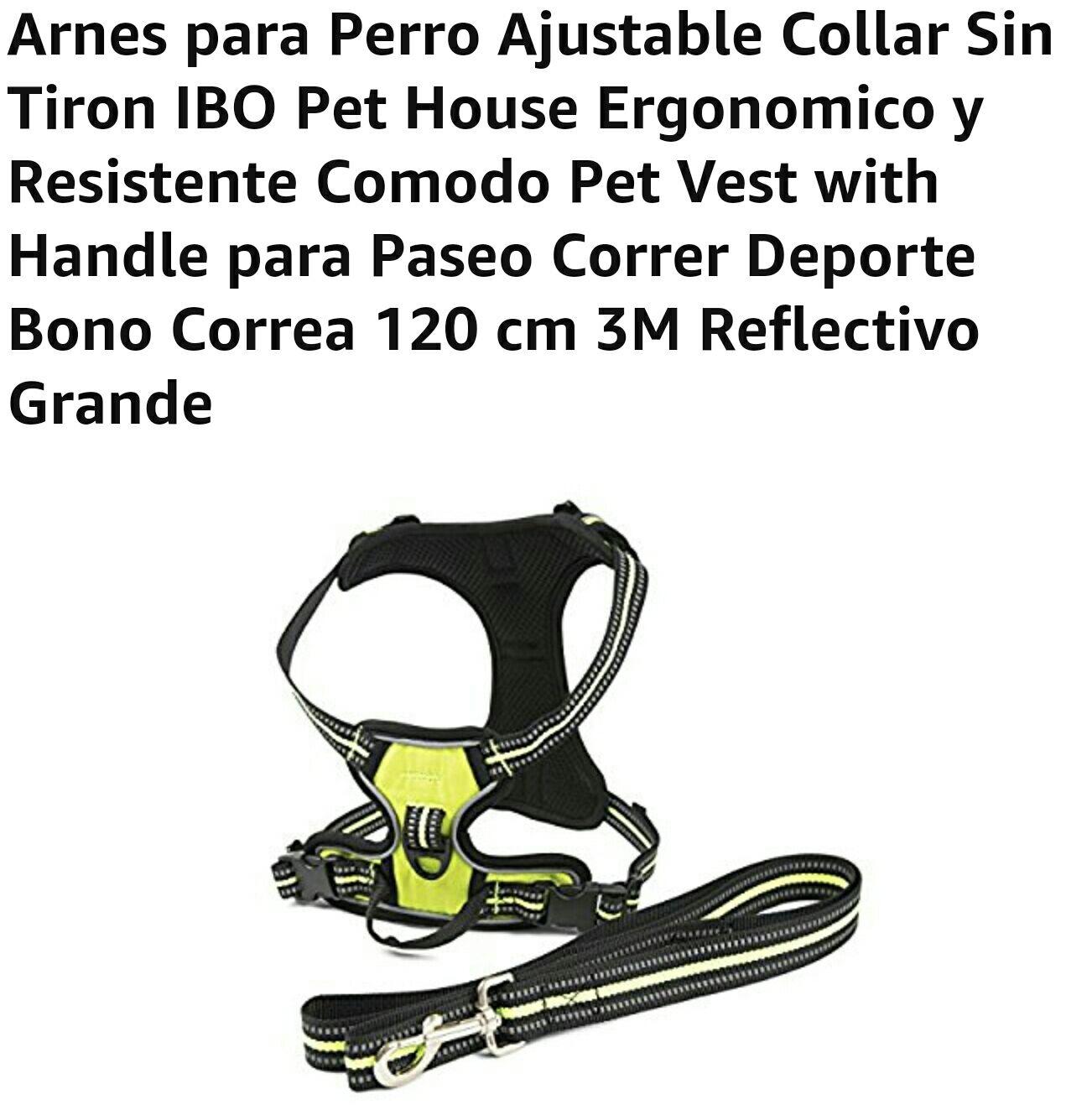 Amazon: Arnes para Perro Ajustable Collar Sin Tiron (vendido por un tercero)