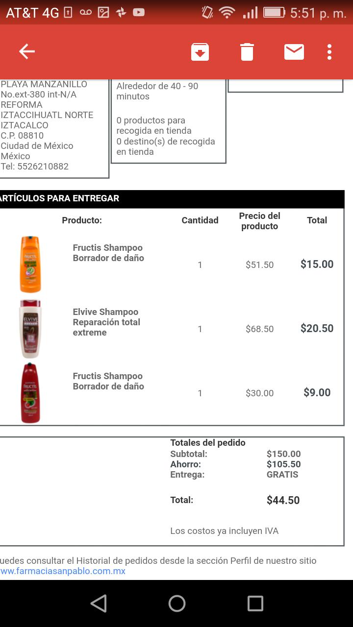 San Pablo en línea: descuentos en desodorantes, cremas, shampoos