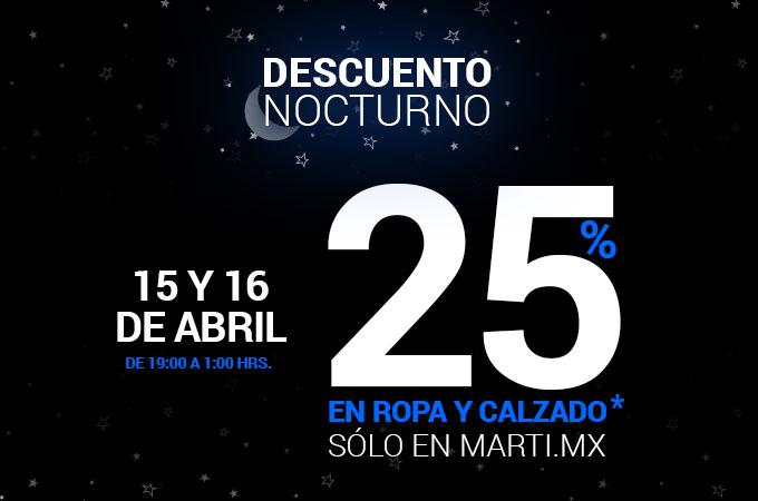 Descuento del 25% en Marti.mx