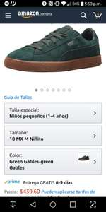 Amazon: Tenis Puma Kids número 10MX