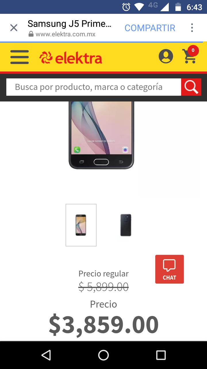 Elektra: Samsung J5 a $3,859