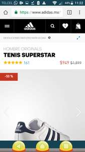 Adidas: Tenis Superstar a $949