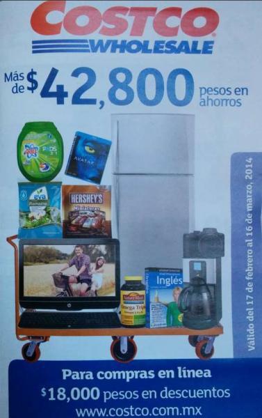 Folleto de ofertas en Costco del 17 de febrero al 16 de marzo