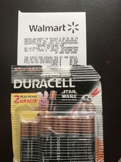 Walmart poligono cancun: pilas duracell