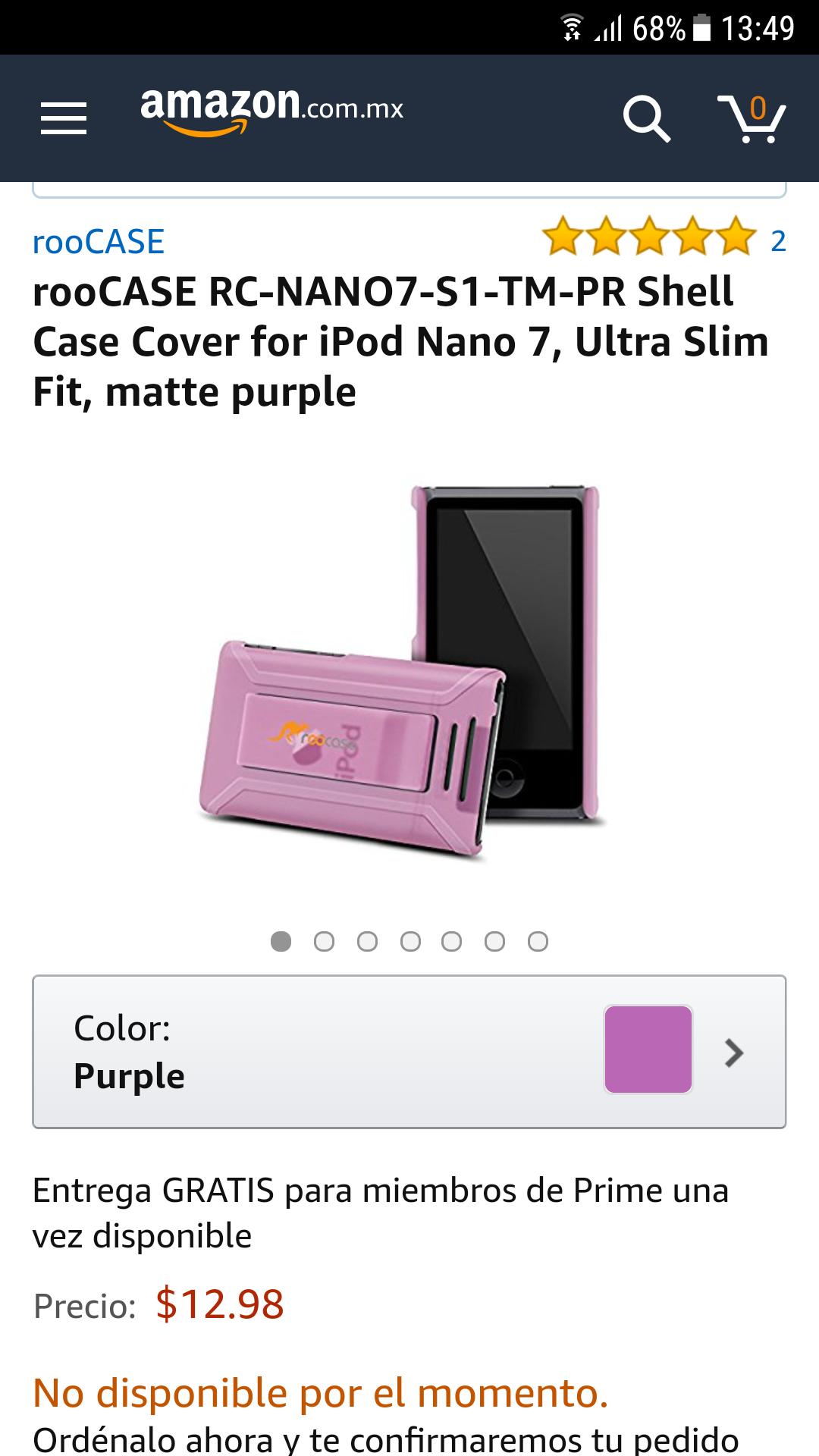 Amazon: Funda ipod nano 7 purple Prime