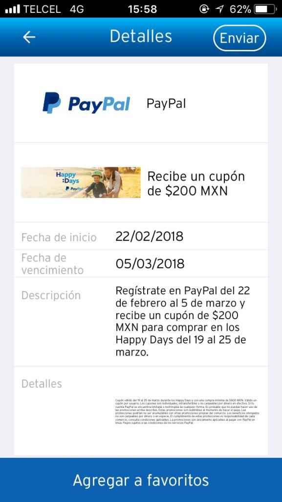PayPal: $200 de regalo en compra mínima de $600 con Citibanamex (Nuevos Usuarios)