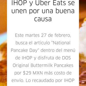 Ihop y ubereats: national pancake day