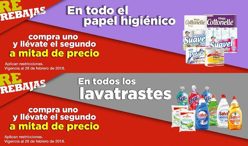 Comercial Mexicana y MEGA: 2 x 1½ en todo el papel higiénico y en todos los lavatrastes
